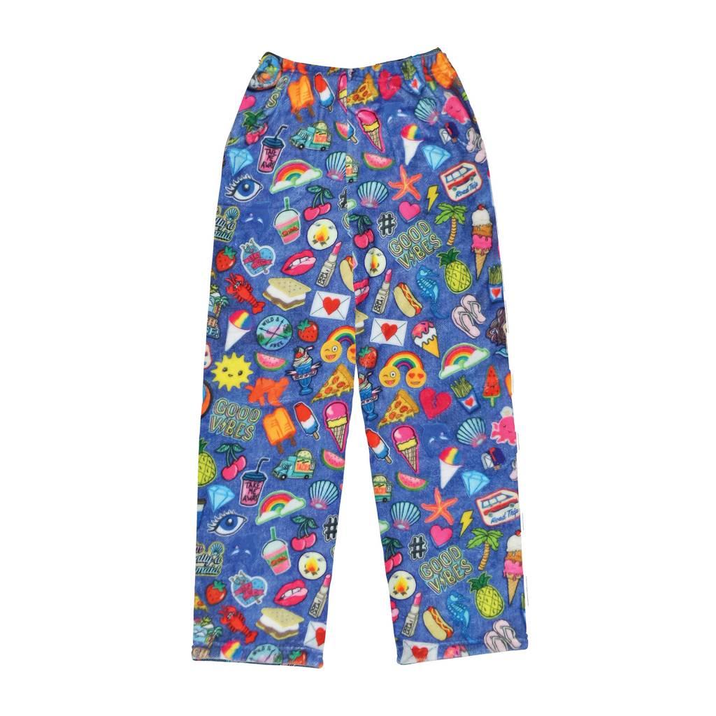 Denim Patches Plush Pants