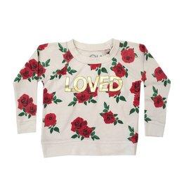 Chaser Love Roses Knit Raglan Pullover