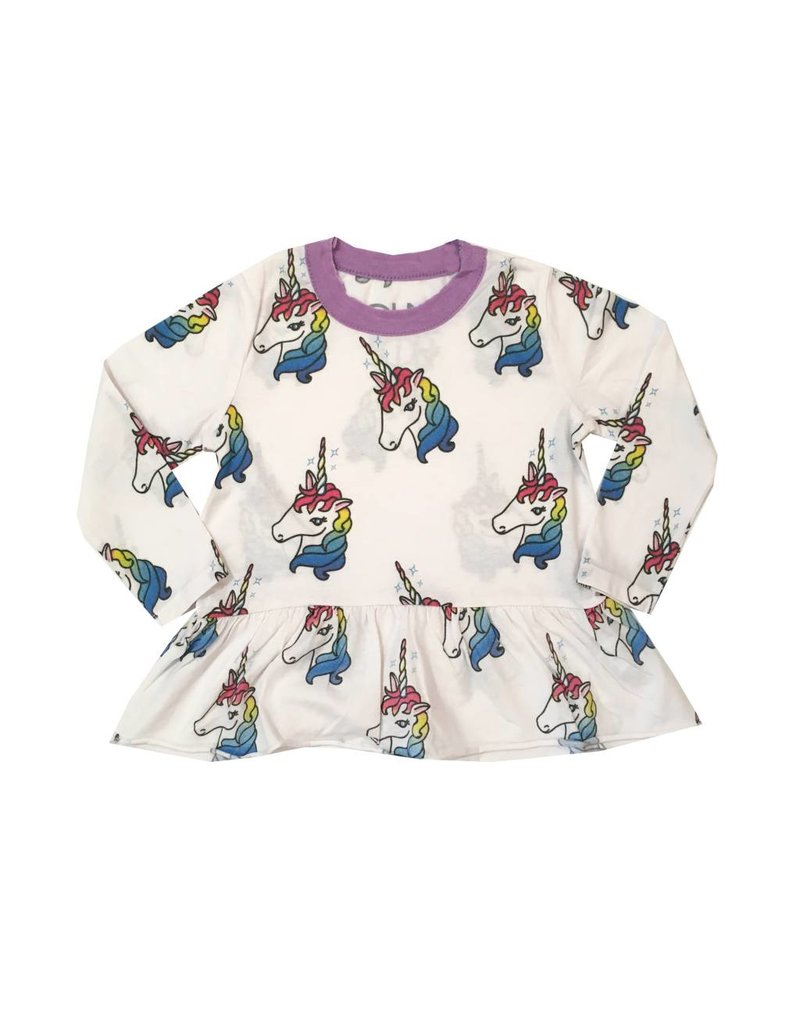 Chaser Unicorn Peplum Top