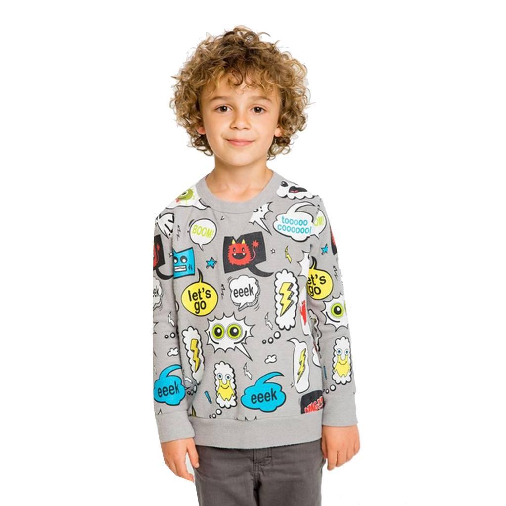 Chaser Boys Texty Knit Raglan