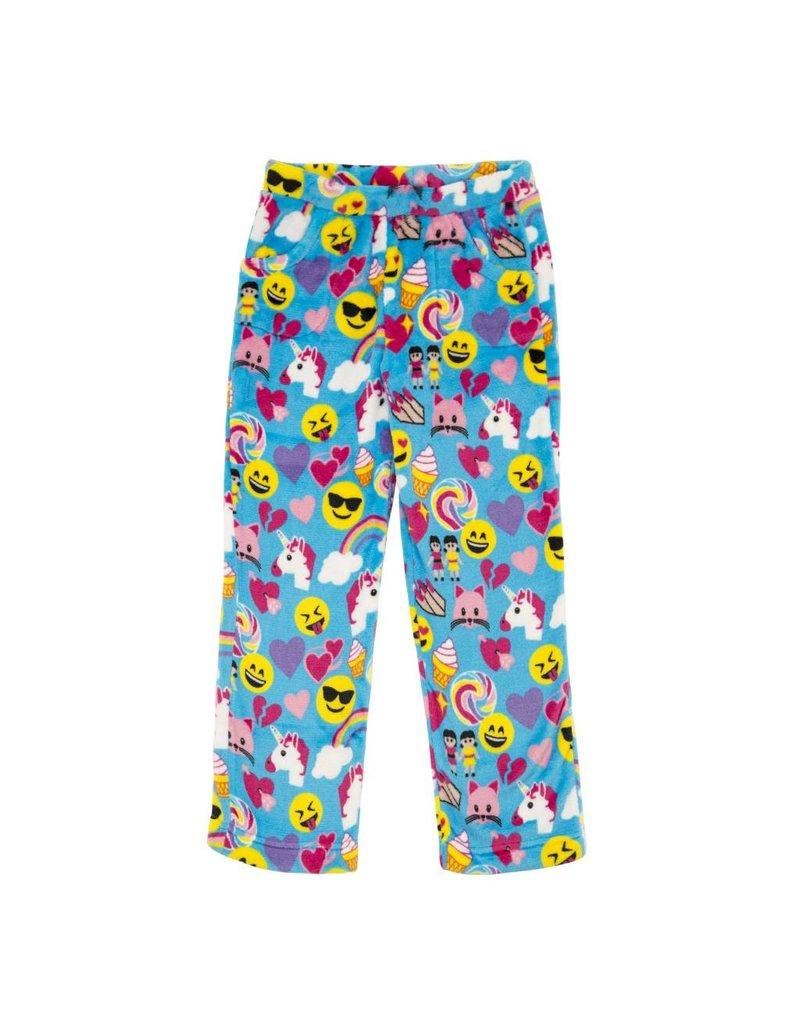 Candy Pink Blue Emoji Plush Pants