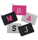 Beaded Initial Pouches