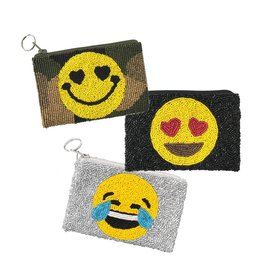 Beaded Emoji Pouches