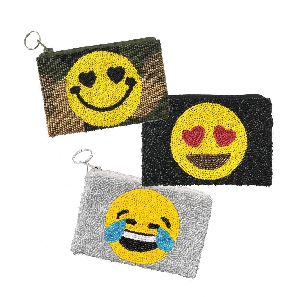 Beaded Emoji Pouches
