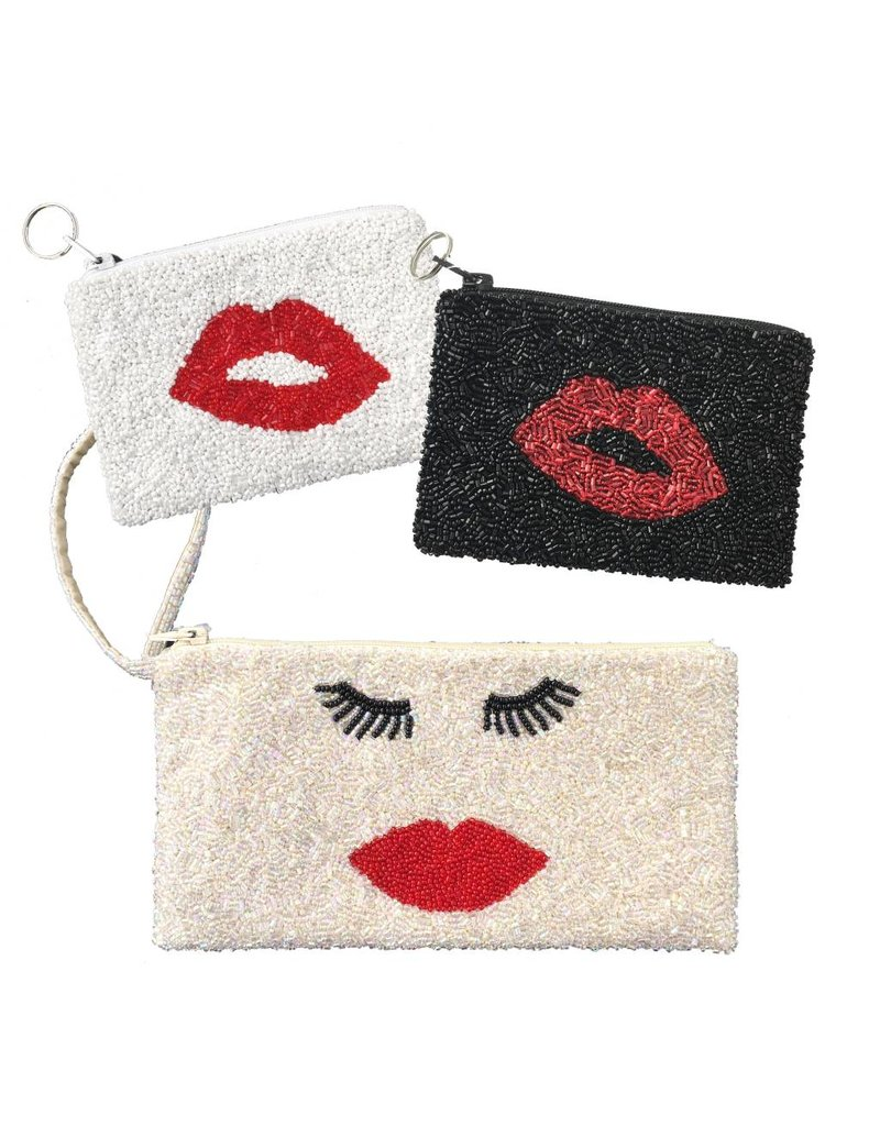 Beaded Lips Pouches