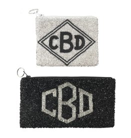 Beaded Monogram Pouches