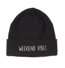 Black Weekend Vibes Beanie