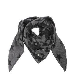 Grey Camo & Star Triangle Scarf