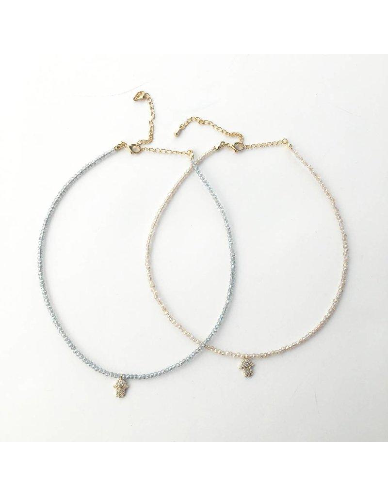 Beaded Hamsa Choker Necklace