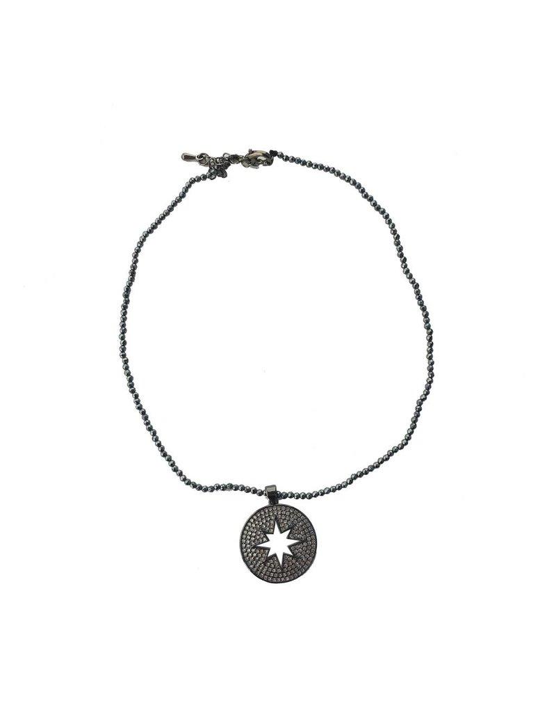 Beaded Starburst Choker Necklace
