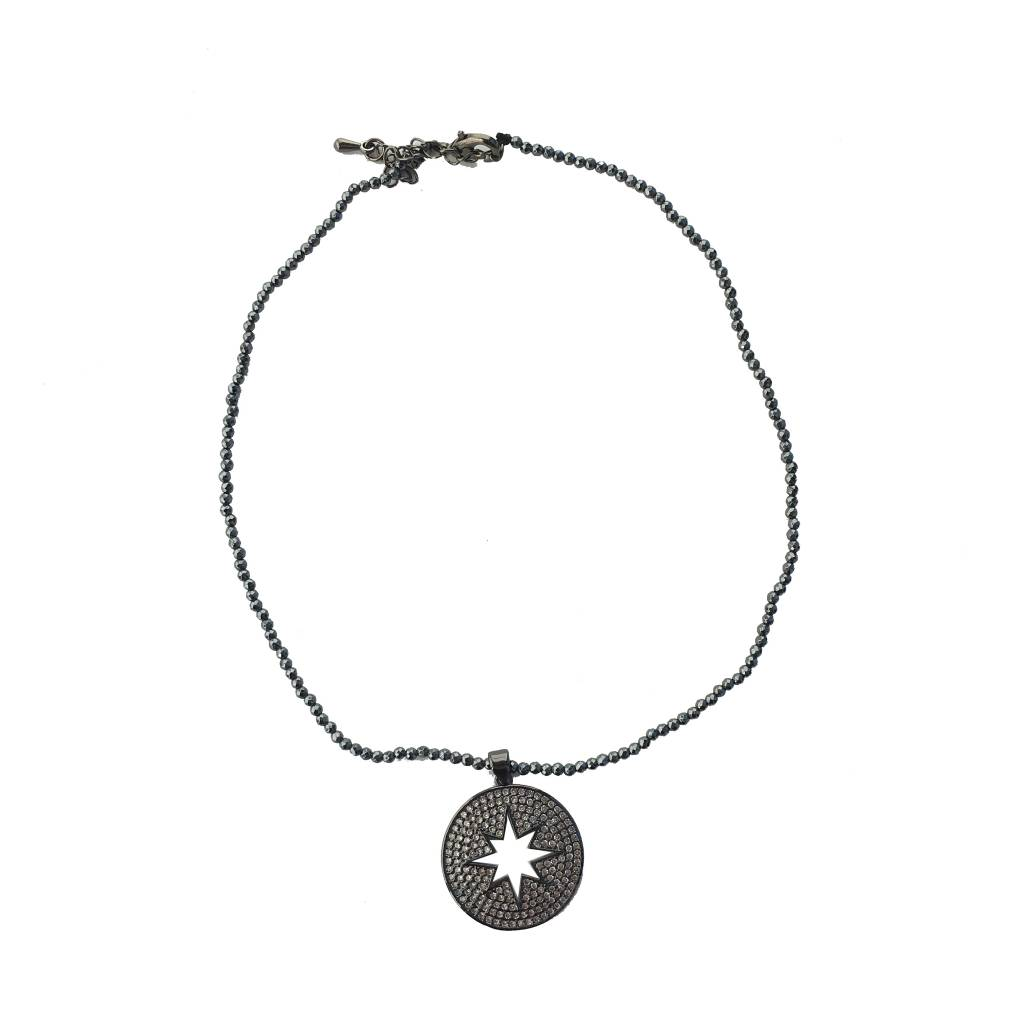 Beaded Starburst Choker Necklace