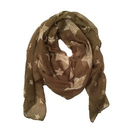 Olive Sheer Star Scarf
