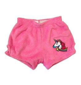 Unicorn Patch Plush Shorts