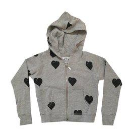 T2Love Hearts Zip Hoodie