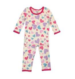 Esme Infant Confetti Hearts Pajama Set