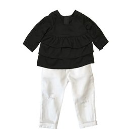Doll White Ripped Jeans Set