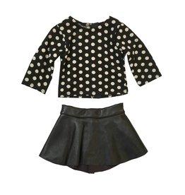 Doll Pleather Skirt Set