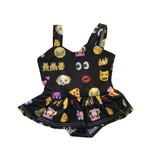Doll Emoji Ruffle Swimsuit