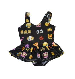 Doll Emoji Ruffle Swimsuit