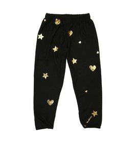 Lauren Moshi Metallic Stars Sweatpants