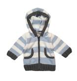 2 H Knits Blue Stripe Hooded Zip Sweater