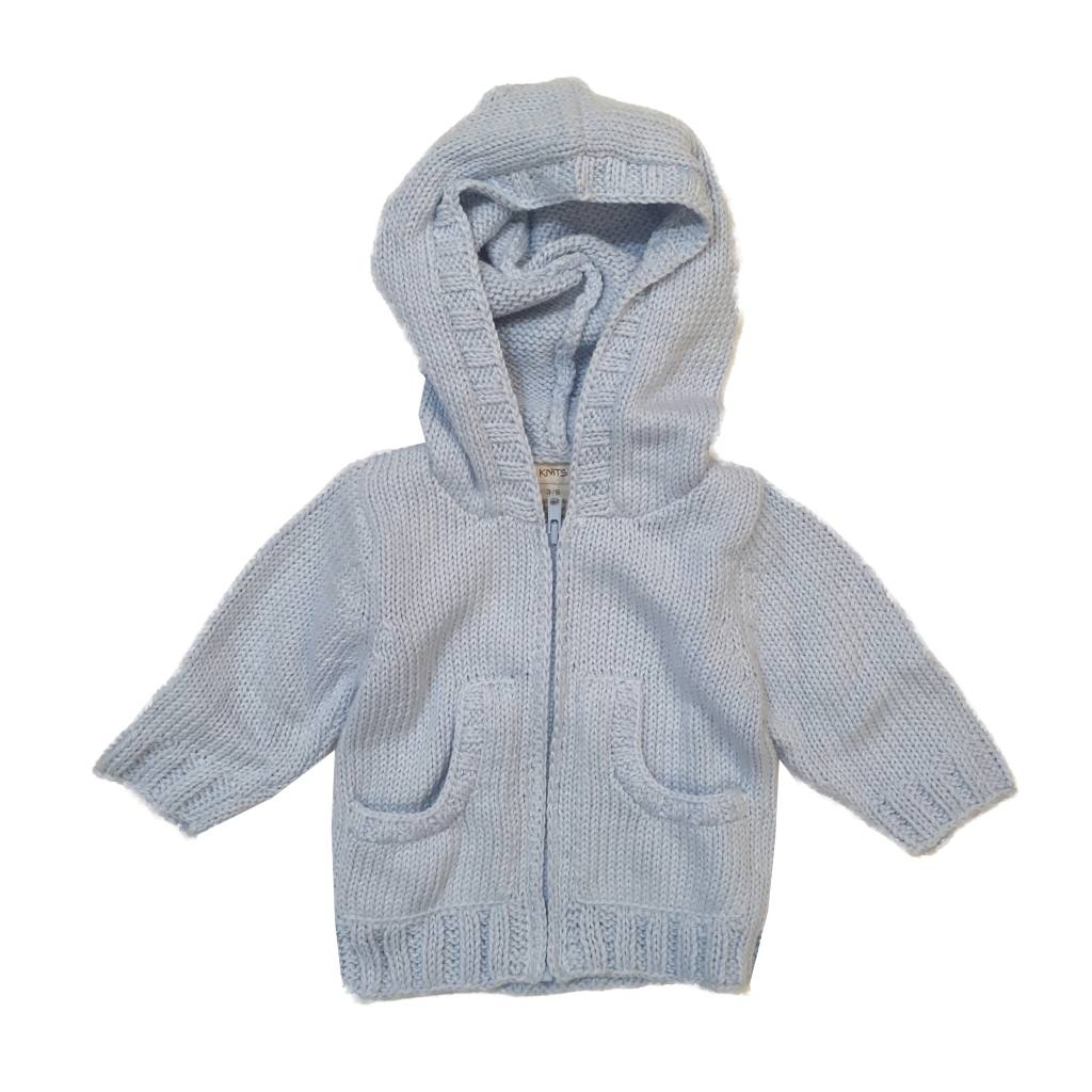 2 H Knits Hooded Zip Sweater