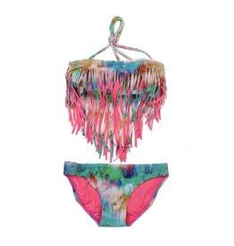 Peixoto Tie Dye Fringe Bikini