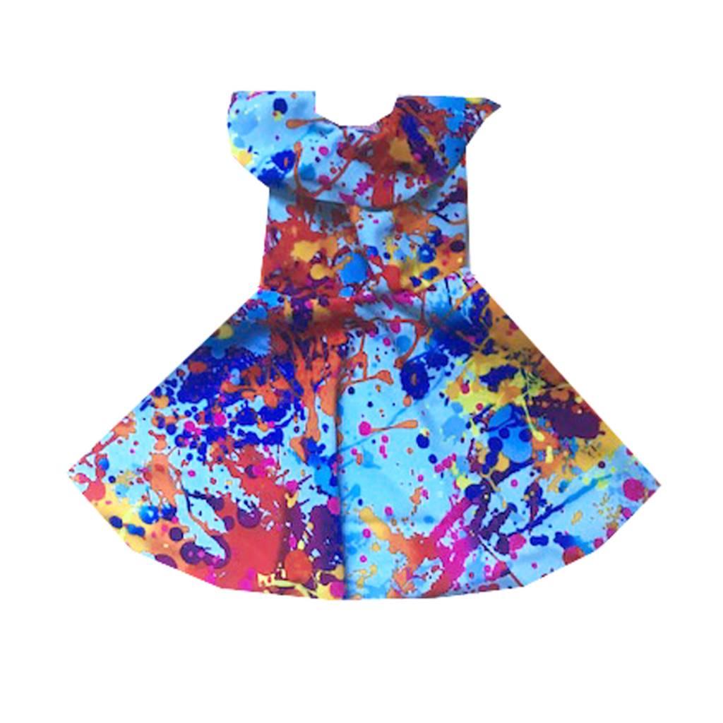 Doll Splash Blue Ruffle Dress