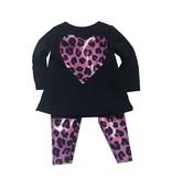Doll Pink Leopard Legging Set