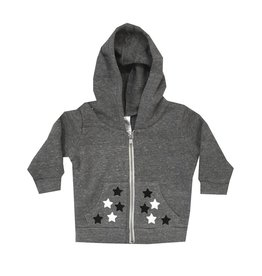 Small Change Black & White Star Zip Hoodie