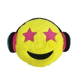 Furry Emoji Headphones Pillow