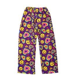 Confetti Emoji Hearts Plush Pants