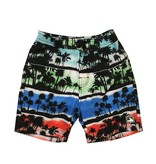 Coral Reef Sunset Palm Board Shorts