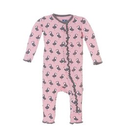 Kickee Pants Puffin Ruffle Coverall