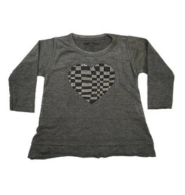 Small Change Checkered Heart Swing Top