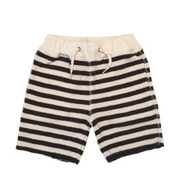 Appaman Infant Navy Stripe Sweat Short