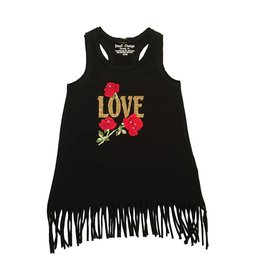 Small Change Love Roses Fringe Infant Dress