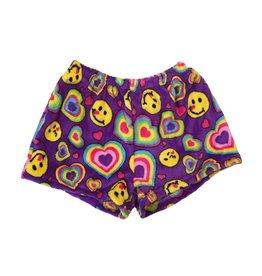Confetti Emoji Hearts Plush Shorts