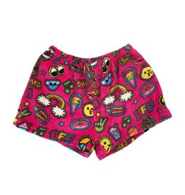 Confetti Patches Plush Shorts