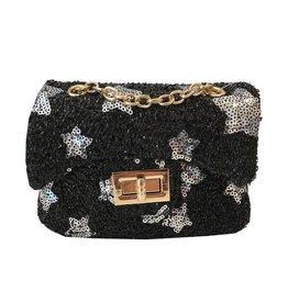 Black Stars Sequin Mini Purse