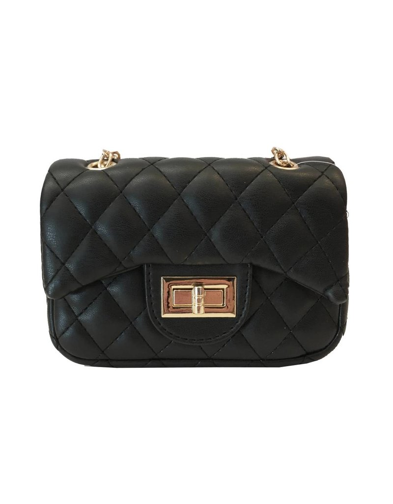Black Quilted Mini Purse