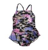 Cruz Sparkle Camo Ruffle 1pc Infant Swimsuit