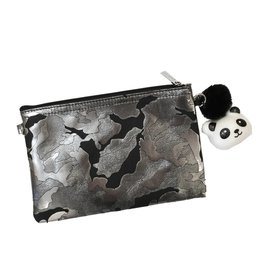Bari Lynn Camo Clutch with Squishie Keychain