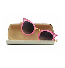 Bari Lynn Crystal Sunglasses with Case