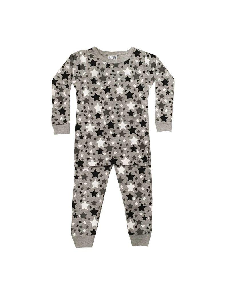 Baby Steps Black Stars PJ Set