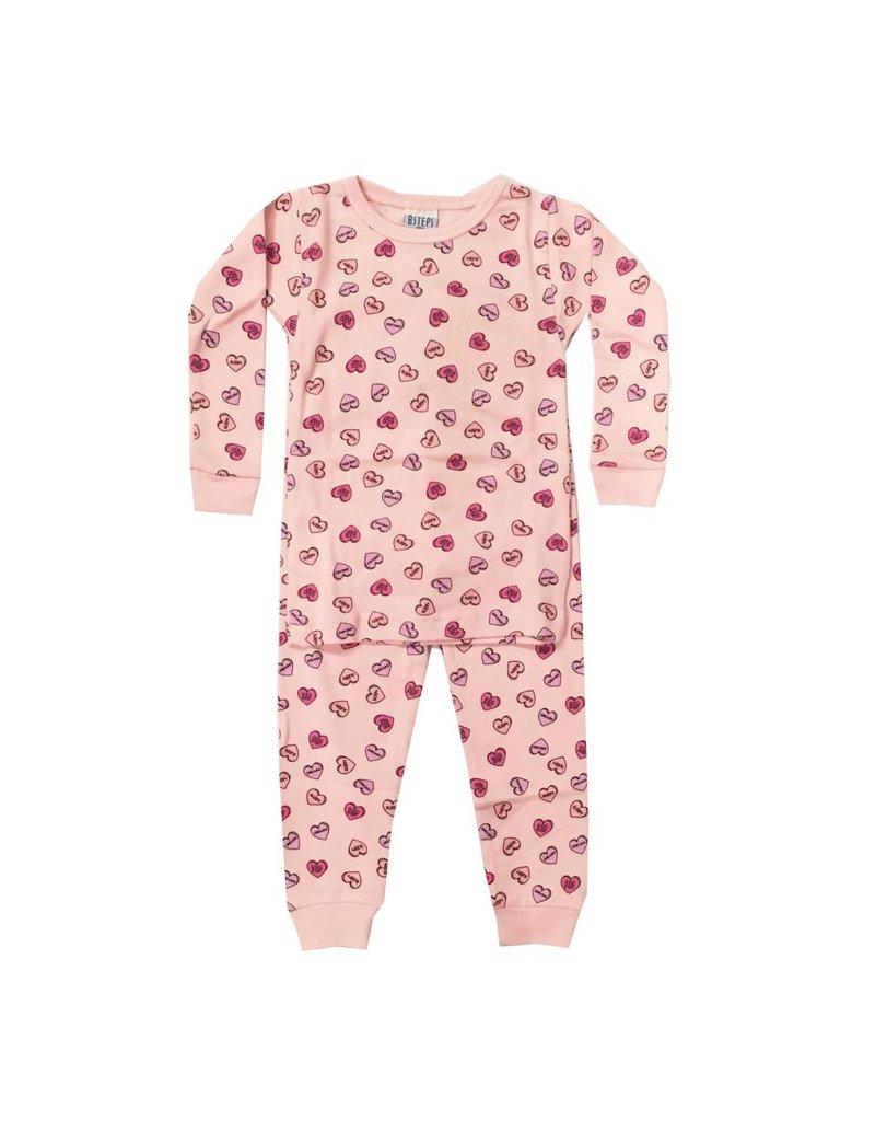 Baby Steps Candy Hearts Infant PJ Set
