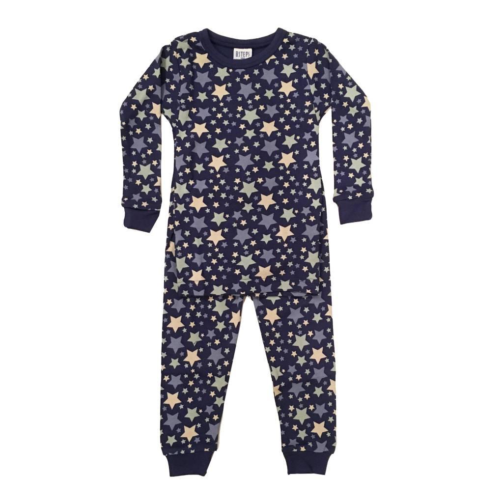 Baby Steps Navy Stars Infant PJ Set