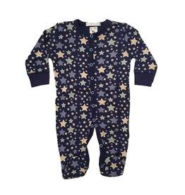 Baby Steps Navy Stars Footie