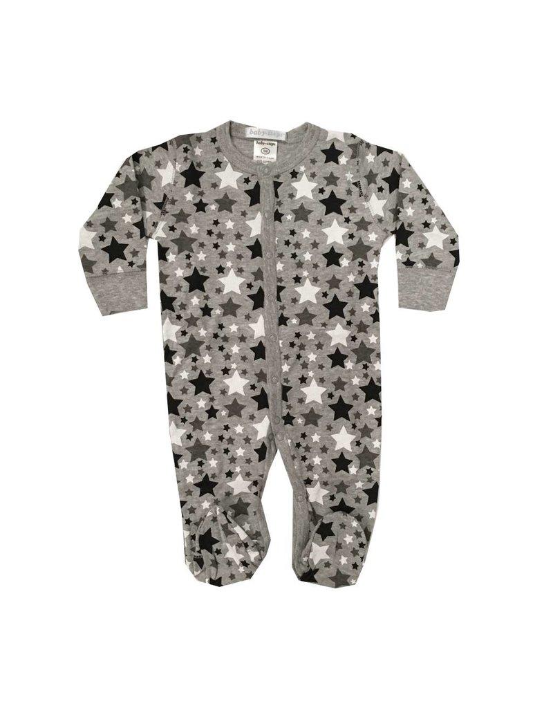 Baby Steps Black Stars Footie