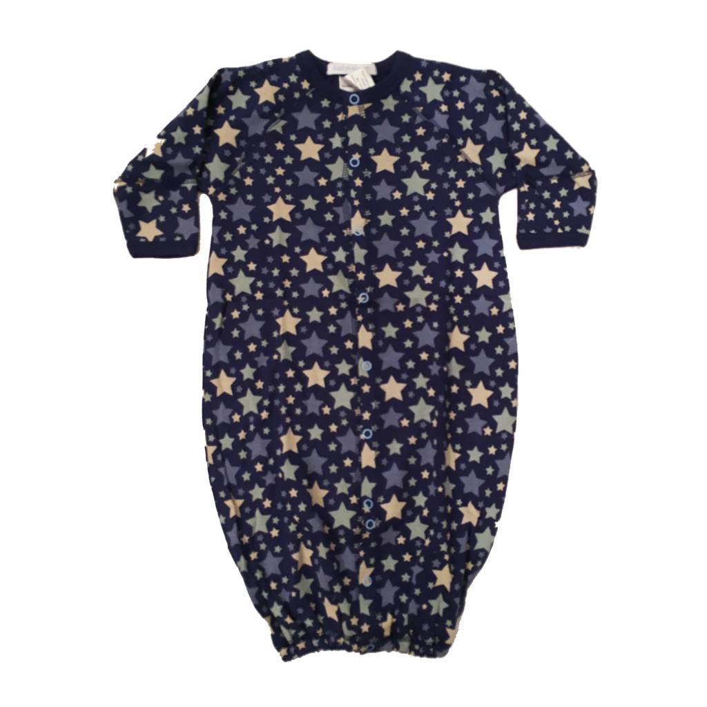 Baby Steps Navy Stars Convertible Gown